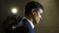 Pedro Sánchez minutos antes de anunciar su renuncia (FOTO:EFE)