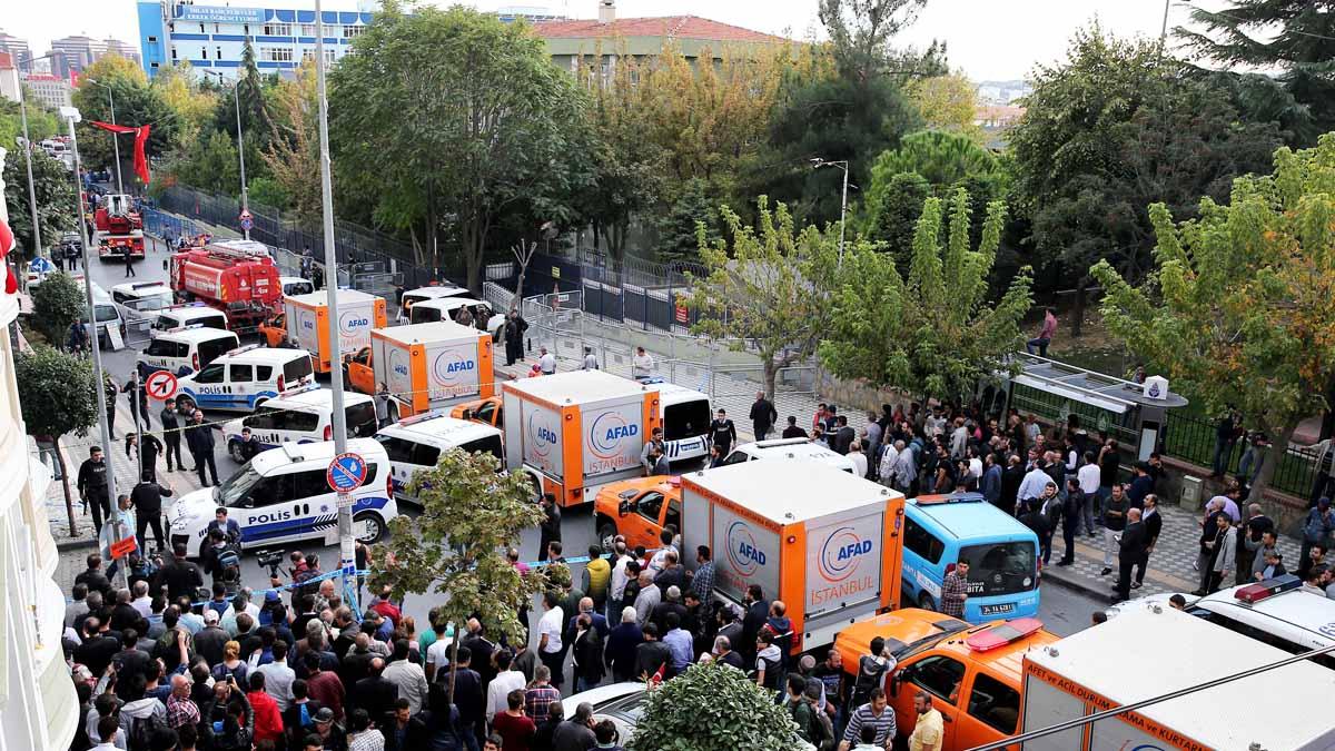 Reciente explosión en un centro policial en Estambul (Foto: Anadolu)