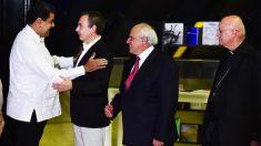 Nicolás Maduro recibió a Zapatero en Miraflores (Foto: AFP)