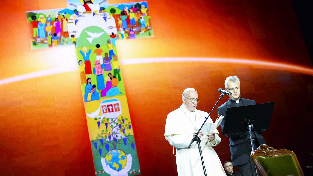 El Papa hace un llamamiento a la paz desde Suecia (Foto: AFP)