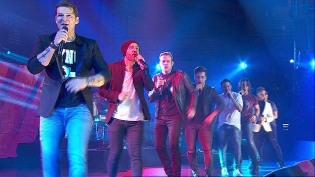 Uno de los divertidos momentos del concierto en Barcelona/RTVE