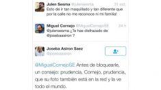 Amenazas de Joseba Asirón a un ciudadano en Twitter.