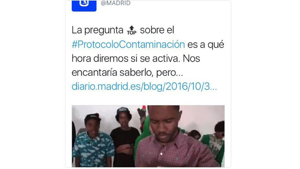 Tuit chistoso del Ayuntamiento de Madrid.