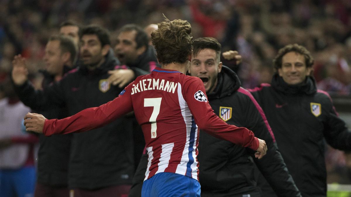 Griezmann celebrando el gol de la victoria.