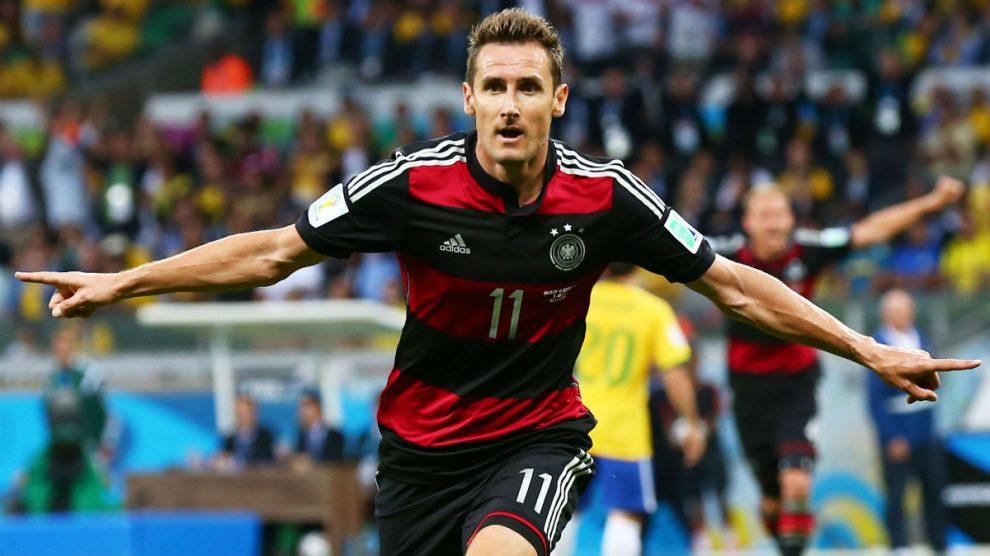 Klose celebra un gol con Alemania durante el Mundial de Brasil 2014. (Getty)