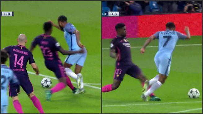 penalti-umtiti-sterling