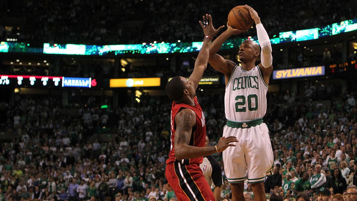 Ray Allen ganó un anillo con Boston Celtics y otro con Miami Heat (Foto: Getty)