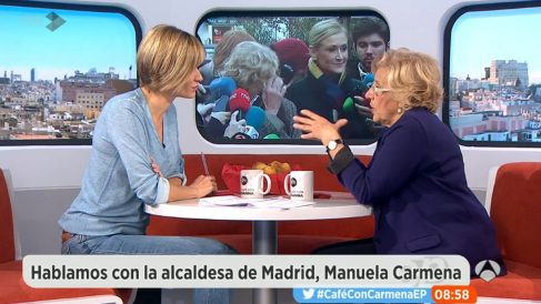 Manuela Carmena en 'Espejo Público'. (Foto: Antena 3)