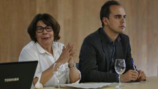 Los concejales de Medio Ambiente, Inés Sabanés, y Urbanismo, José Manuel Calvo, presentando el Plan. (Foto: Madrid)