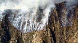 El incendio de Guingueta d'Àneu, en Lérida, en una imagen distribuida por los bomberos de la Generalitat.