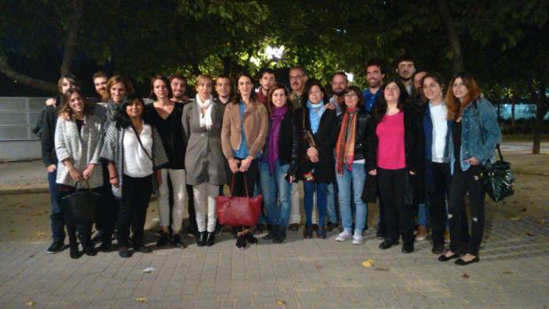 Foto grupal de la candidatura Adelante Podemos con la Gente de Rita Maestre. (Foto: OKDIARIO)