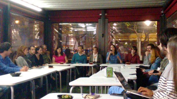 Maestre presentando a los integrantes de su candidatura. (Foto: OKDIARIO)