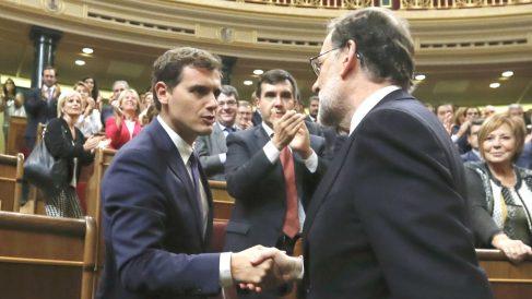 Albert Rivera y Mariano Rajoy. (Foto: EFE)