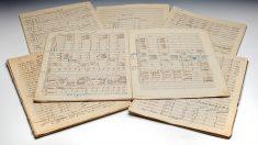 La foto que ofrece Sotheby's en su página web del manuscrito de Mahler que se subastará. SOTHEBY'S