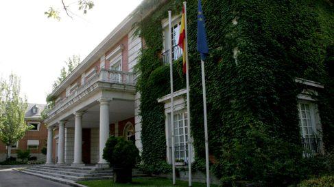 Una de las fachada del Palacio de La Moncloa.