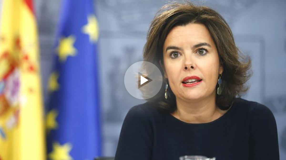 La vicepresidenta del Gobierno en funciones, Soraya Sáenz de Santamaría (Foto: Efe)