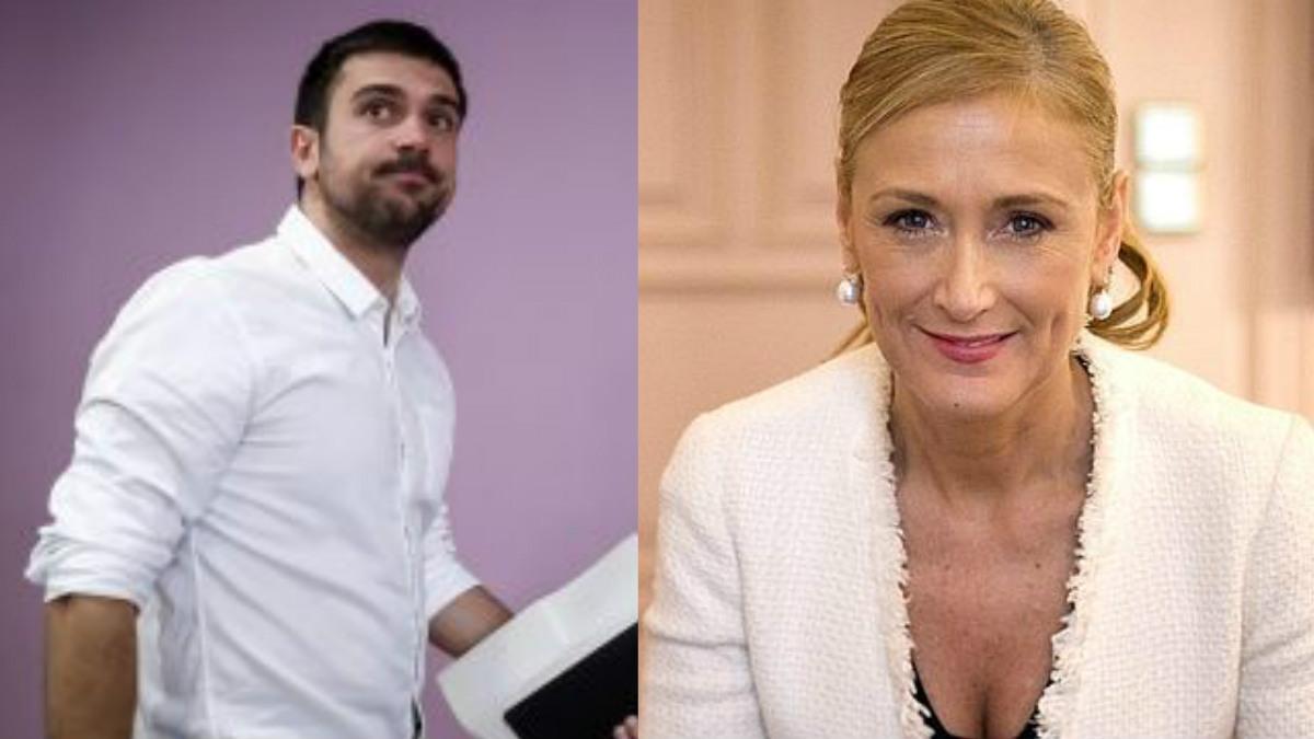 Ramón Espinar y Cristina Cifuentes. OKDIARIO