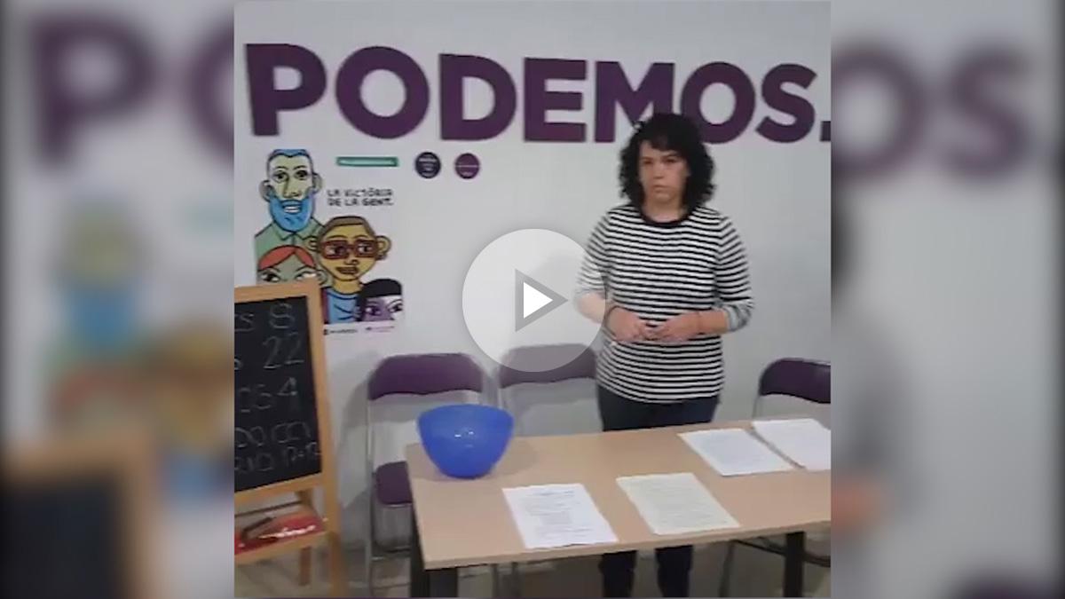 Sorteo de Podemos en la Comunidad valenciana.