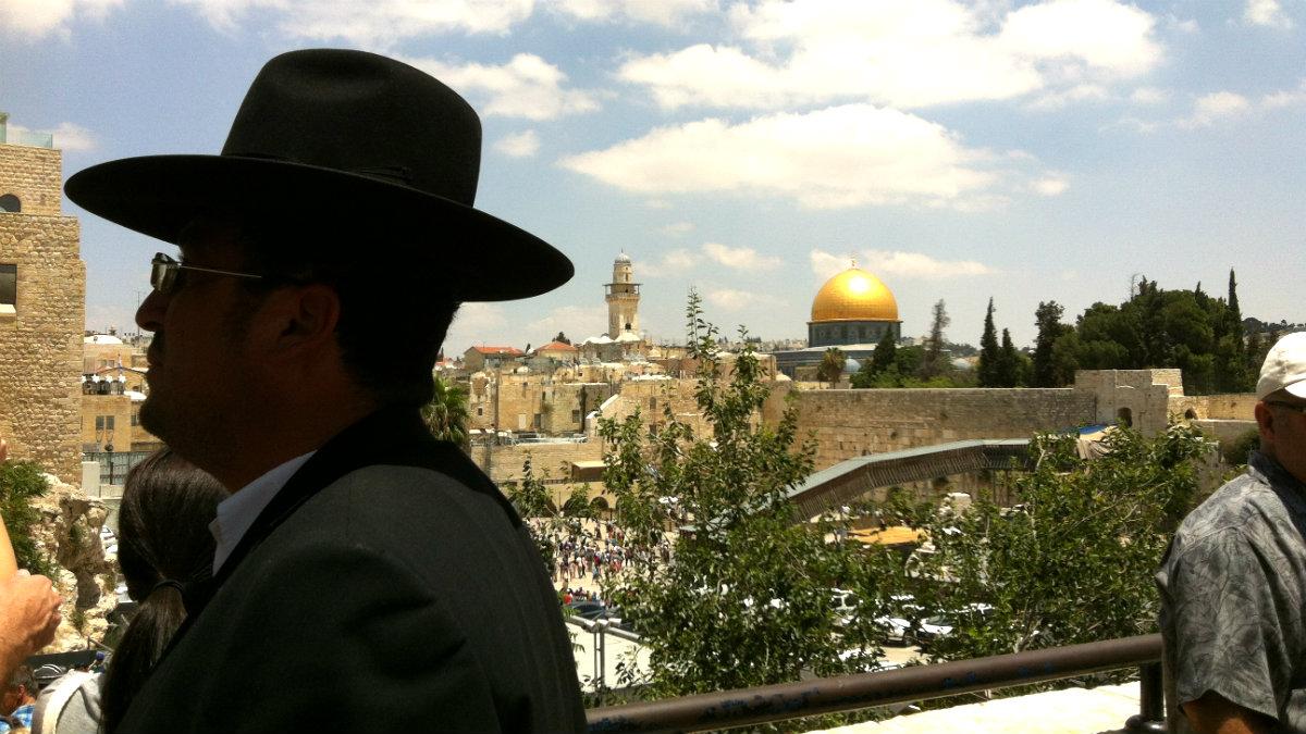 La Cúpula dorada y el Muro de las lamentaciones en la ciudad vieja de Jerusalén. (ADP)