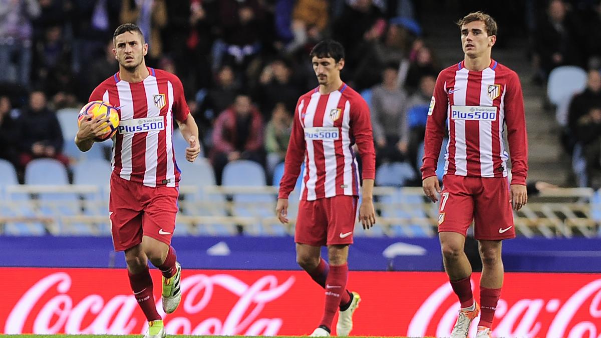 El Atlético de Madrid cae por 2-0 ante la Real Sociedad