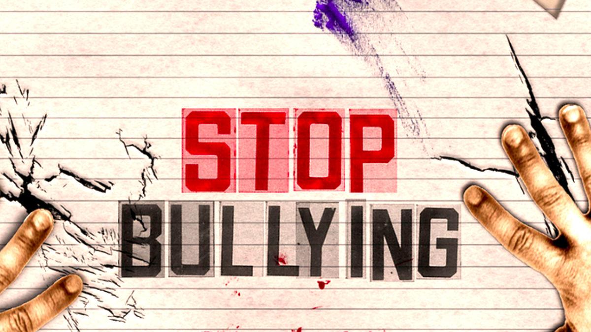 Cartel contra el acoso escolar.
