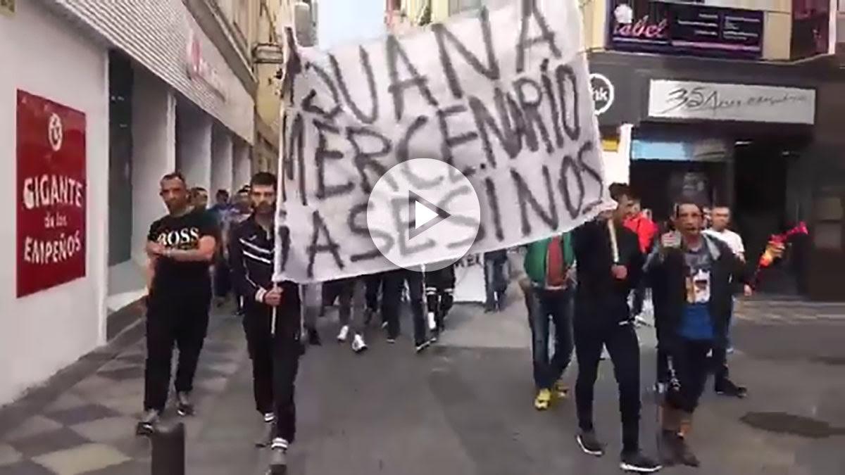 Protesta en las calles de Algeciras.