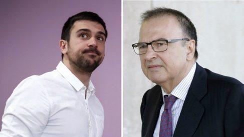 Ramón Espinar hijo y padre. (Fotos: EFE) | Última hora Podemos