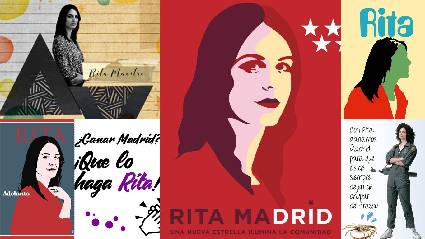 Algunas de las ilustraciones de la campaña de Adelante Podemos con la Gente. (Fotos: TW