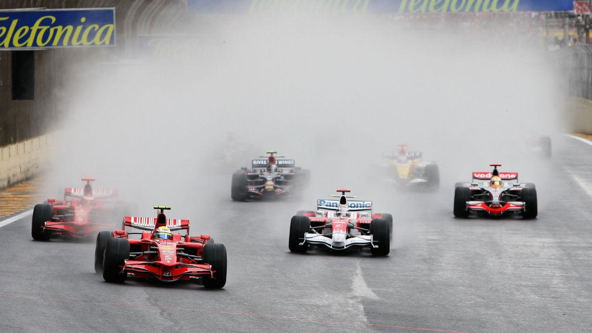El Gran Premio de Brasil de 2008 supuso la resolución más espectacular de la historia de un mundial de Fórmula 1. (Getty)