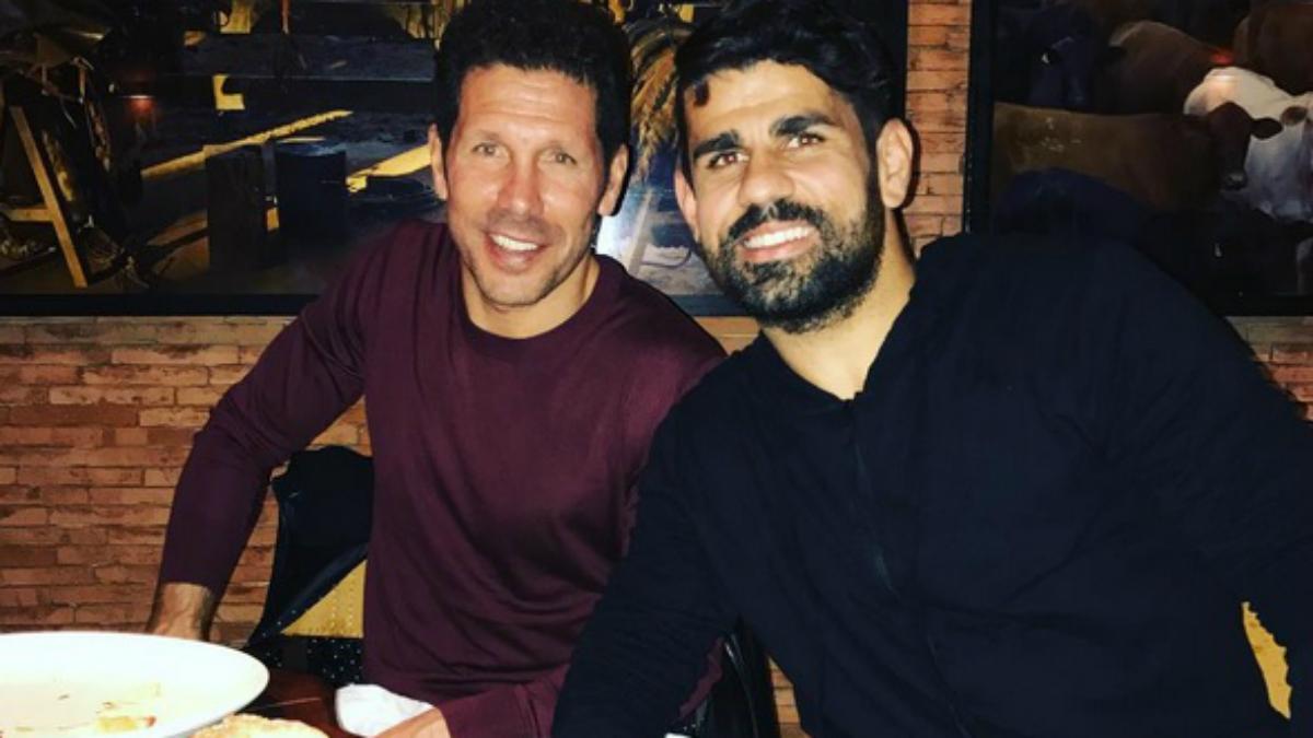Diego Costa y el Cholo Simeone cenaron juntos en Madrid