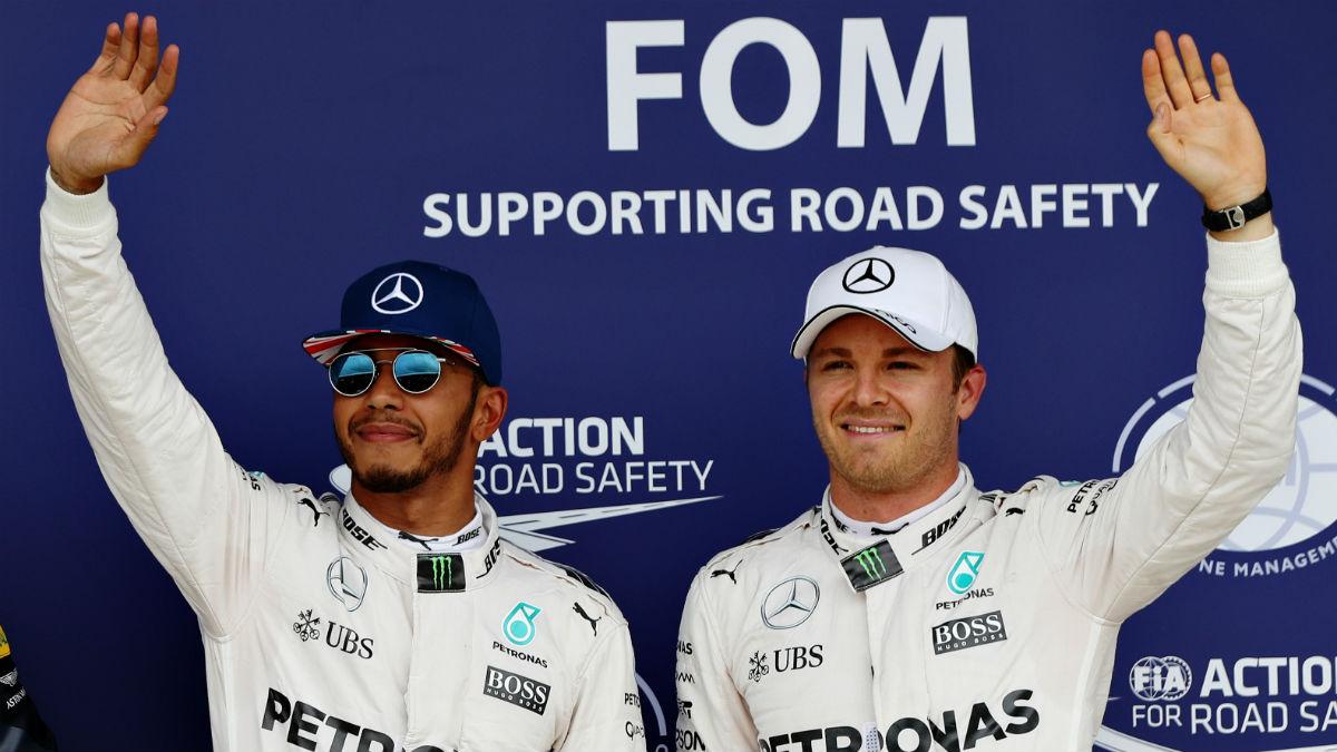 Lewis Hamilton y Nico Rosberg afrontan una de sus batallas más decisivas en Brasil. (Getty)