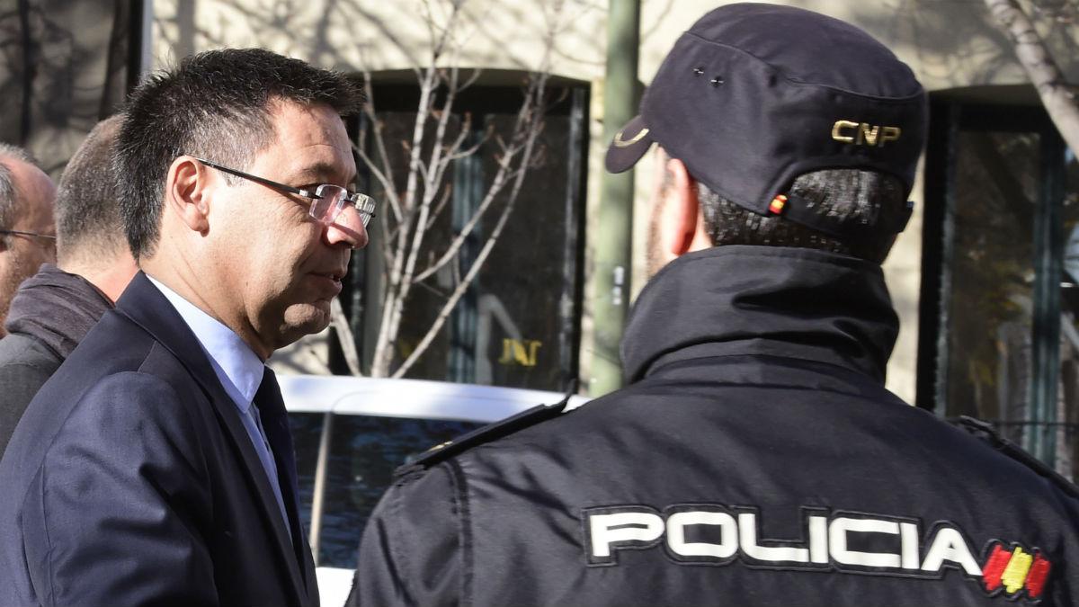 Bartomeu, a su entrada en la Audiencia Nacional. (AFP)