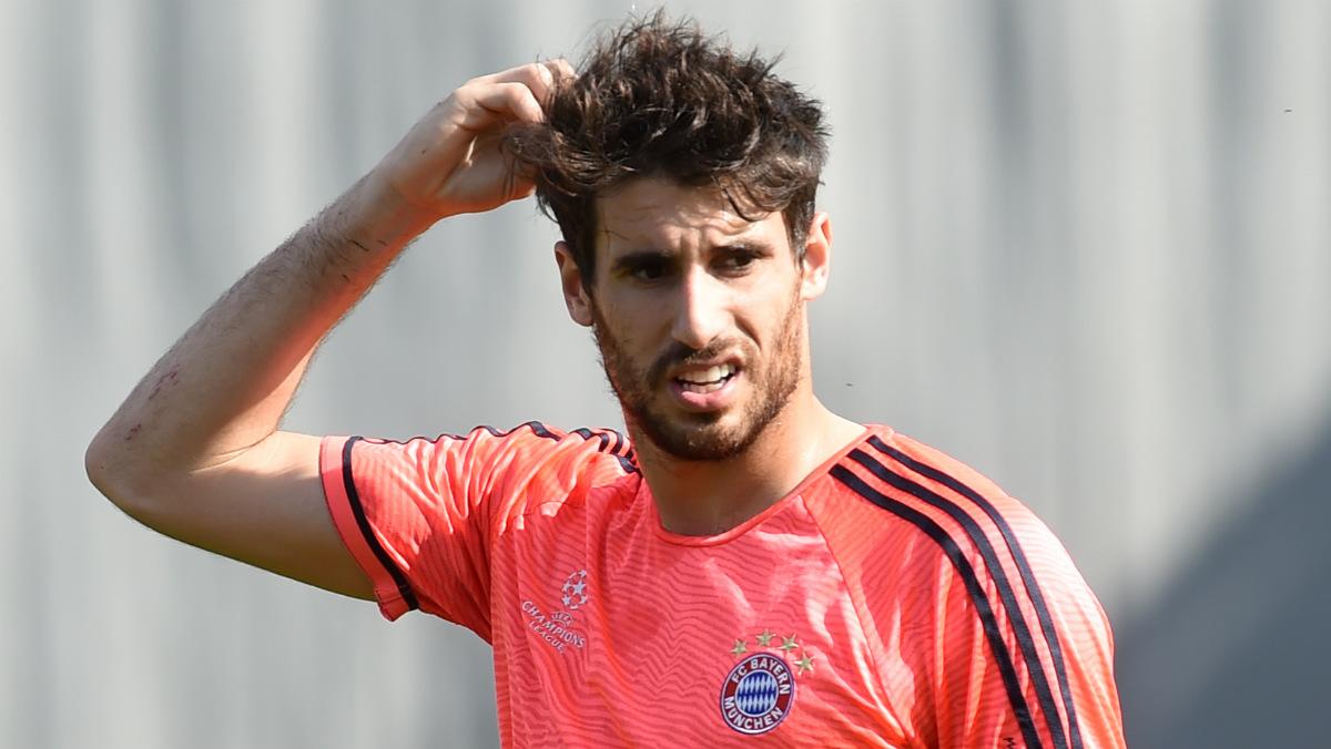 Javi Martínez durante un entrenamiento con el Bayern. (AFP)