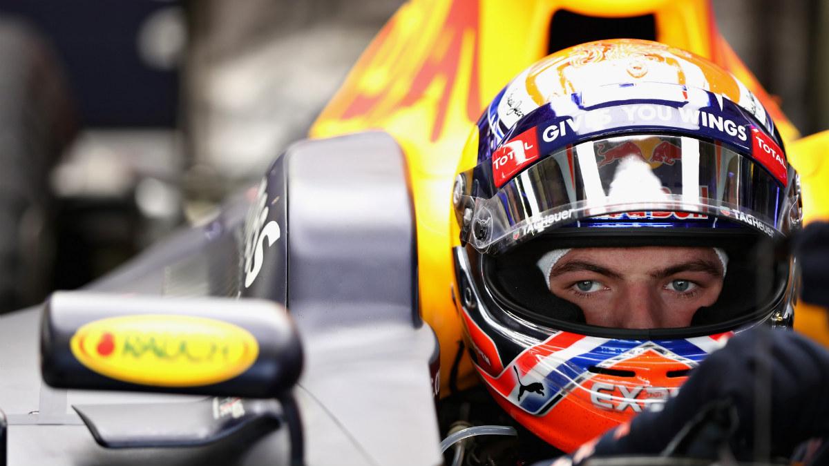 Max Verstappen, con gesto concentrado. (Getty)