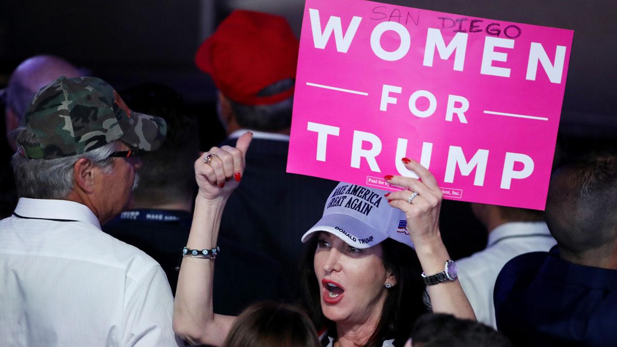 Seguidores de Donald Trump comienzan a celebrar los resultados electorales (Foto: AFP)