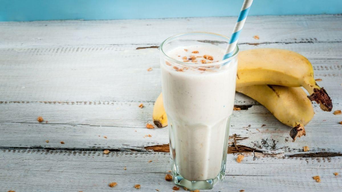 Receta paso a paso del batido de vainilla y plátano
