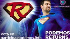 Ramón Espinar, de 'Supermán'. Foto: Facebook Juntas Podemos