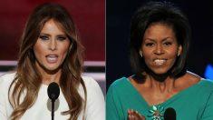 Foto de archivo de Michelle Obama y Melania Trump. (Foto: AFP)