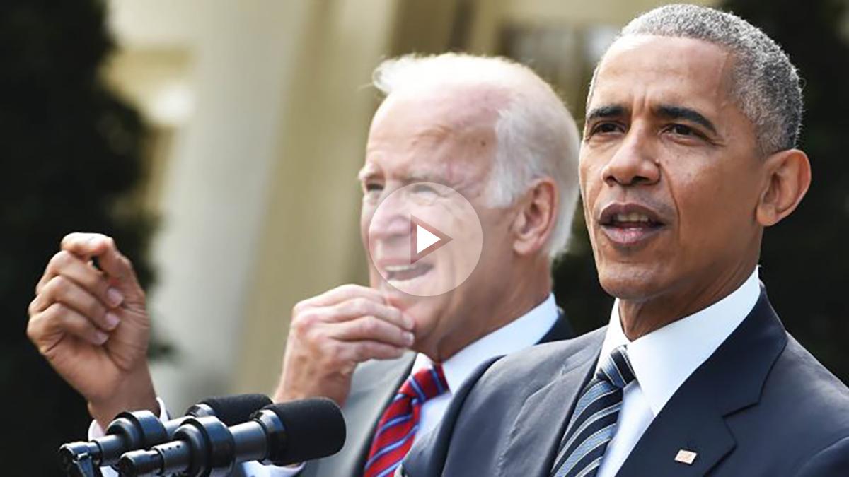 Barack Obama en su rueda de prensa junto a Joe Biden (Foto: AFP)