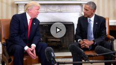 Trump y Obama en la Casa Blanca (Foto: AFP).