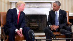 Trump y Obama en la Casa Blanca. (Foto: AFP)