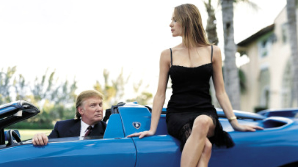 Donald Trump, en una de sus imágenes preferidas.
