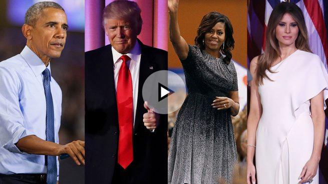 Obama con Trump y Michelle con Melania: así será el encuentro de hoy