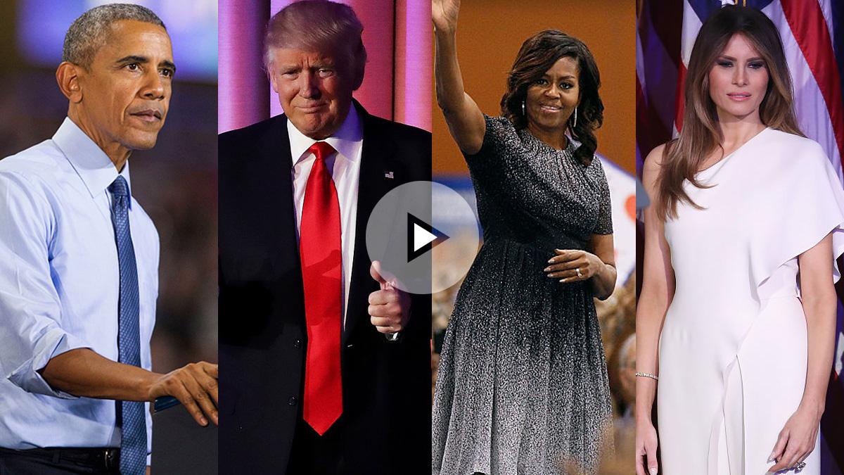 Donald Trump sucederá en el cargo a Barack Obama, Melania Trump será la nueva primera dama estadounidense sucediendo a Michelle Obama. GETTYIMAGES