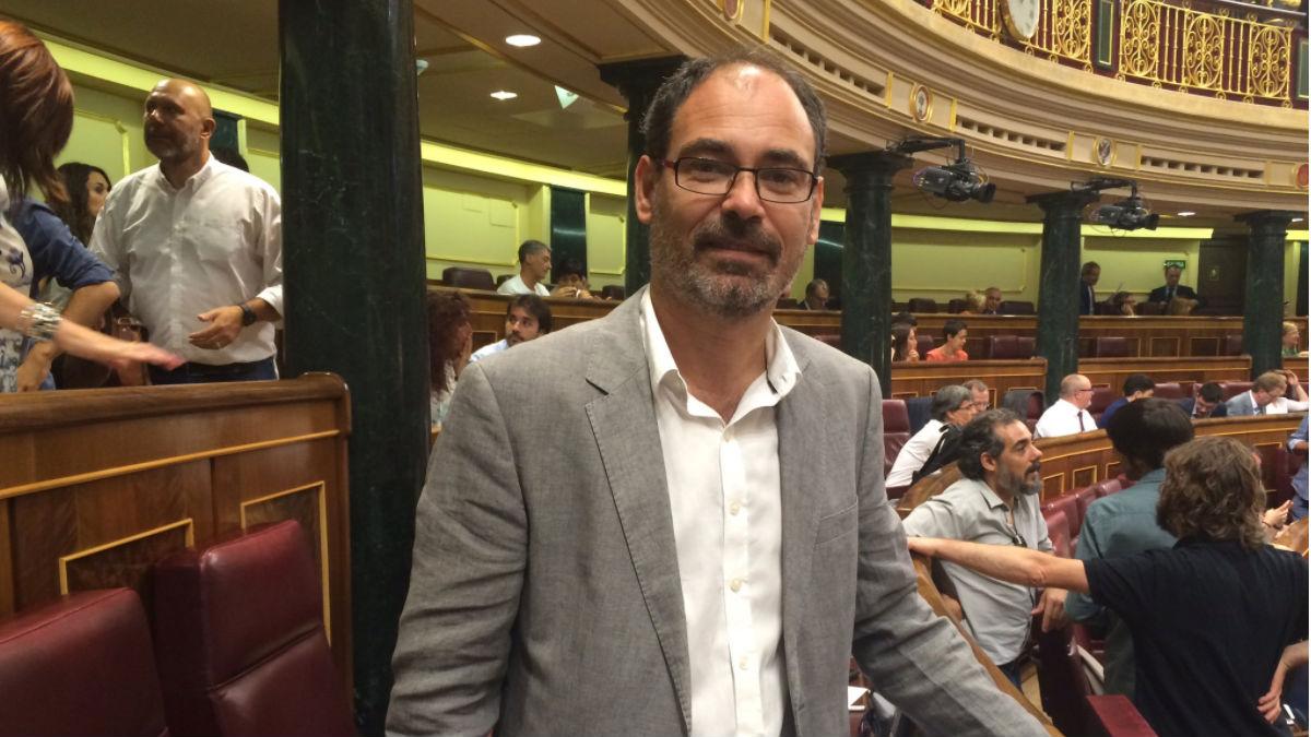 El secretario general de Podemos Málaga, Alberto Montero (Foto: Twitter)