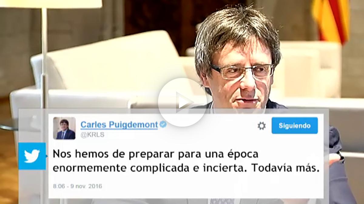 Puigdemont felicita a Trump por su victoria electoral