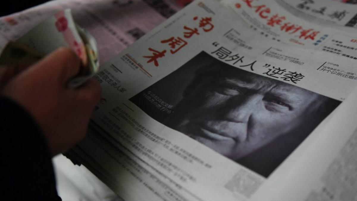 Donald Trump ocupó las portadas de la prensa mundial el pasado martes 8 de noviembre cuanod fue elegido Presidente de los EEUU. AFP