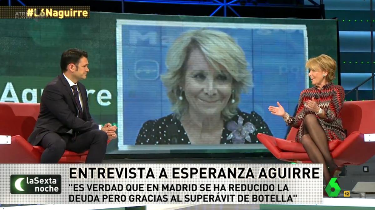Esperanza Aguirre en La Sexta Noche.