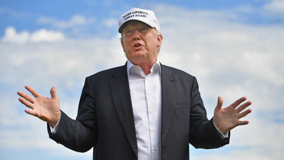 Trump, en un acto en el Trump International Golf Links. (Getty)