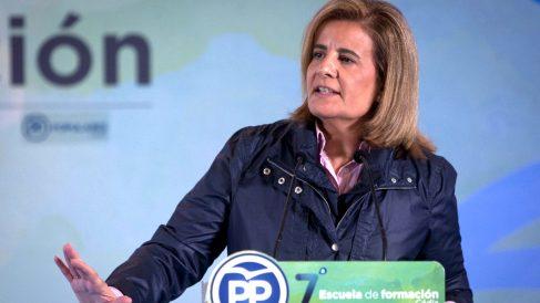 Fátima Báñez en un reciente acto del PP (Foto: Efe).